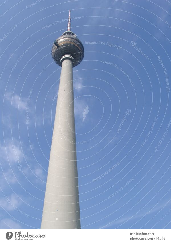 television tower Clouds Architecture Berlin Berlin TV Tower tower tv Level Tall Sky