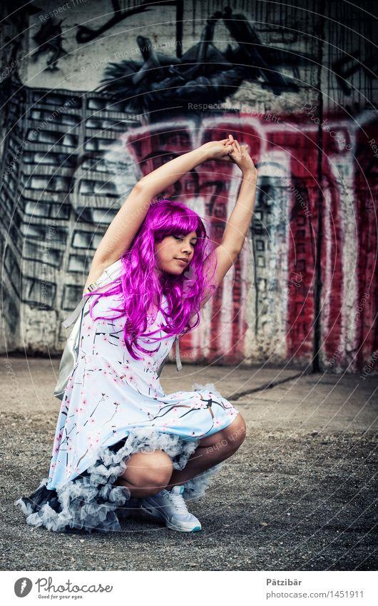 Ne Streck-Elfe Style Design Stands Dance Feminine Artist Stage play Dancer Punk Rockabilly Shows Industrial plant Factory Ruin Fashion Dress Wig Exceptional
