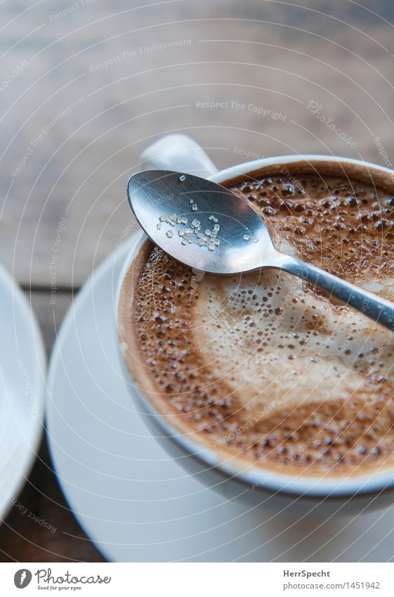 sugar spoon Beverage Hot drink Coffee Cup Lifestyle Well-being Relaxation Living or residing Restaurant Delicious Brown Saucer Café Cappuccino Café au lait