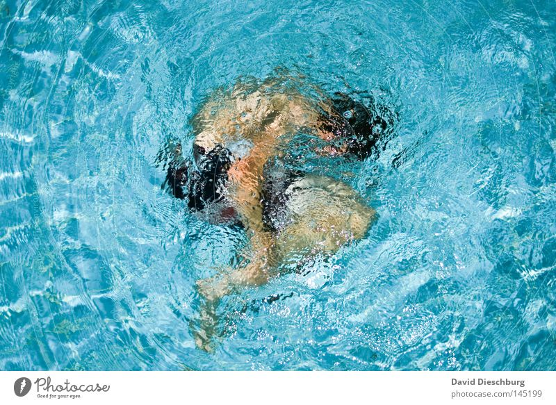 embryonic position Youth (Young adults) One young adult man 1 Person Individual Convoluted Embryo Swimming & Bathing Dive Surface of water Whirlpool