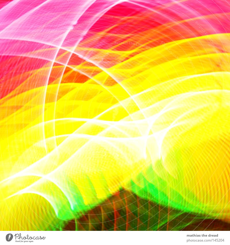 600 + 3 Colour Multicoloured Green Yellow Red Pink Circle Ring Light Geometry Structures and shapes Edge Line Point White Bright Unclear Blur Distorted Skewed