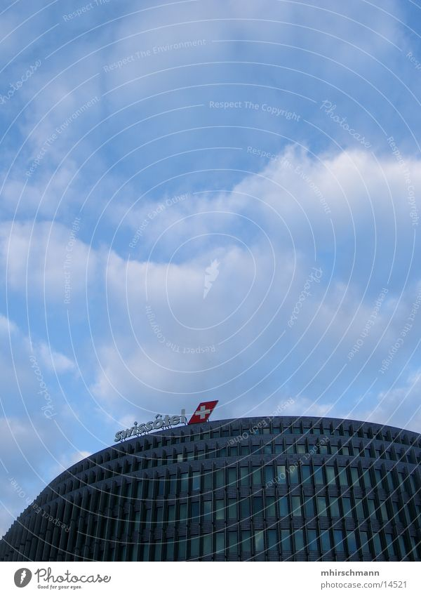 Sky Blue Clouds Building Architecture High-rise Back Switzerland Hotel