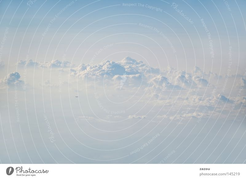 cloudy kingdom Colour photo Exterior shot Aerial photograph Copy Space top Copy Space bottom Twilight Silhouette Freedom Elements Air Sky Clouds Horizon Weather