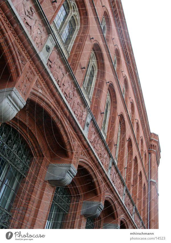 Sky Blue Berlin Window Building Architecture Large Warehouse Column City hall