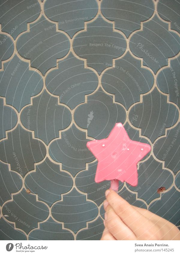 Blue Hand Wall (building) Wall (barrier) Style Pink Food Nutrition Ice cream Star (Symbol) Sweet Stalk Turquoise Delicious Candy Sugar