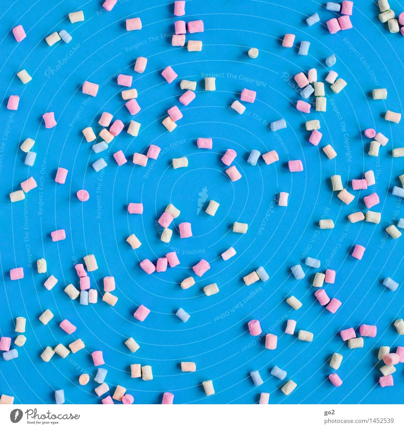 Blue Colour Joy Eating Small Food Happiness Esthetic Nutrition Sweet Many Delicious Candy Sugar Unhealthy Debauchery
