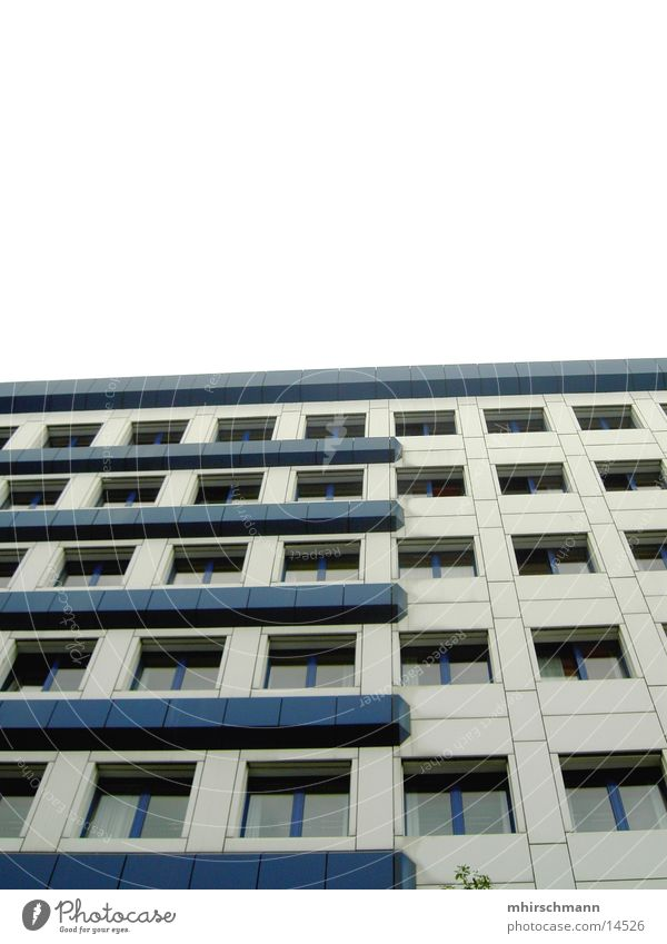 Sky Blue White House (Residential Structure) Architecture Building High-rise Hotel Block Prefab construction Generator