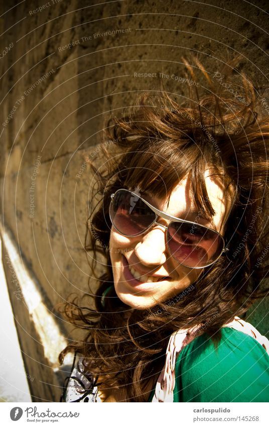 Girl Eyeglasses Sun Cordoba Mosque Spain Cathedral Gastronomy Grinning Wind