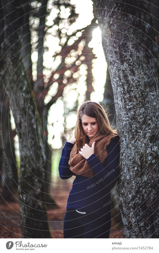 sunlight Feminine Young woman Youth (Young adults) 1 Human being 18 - 30 years Adults Autumn Forest Beautiful Natural Colour photo Exterior shot Day Sunlight