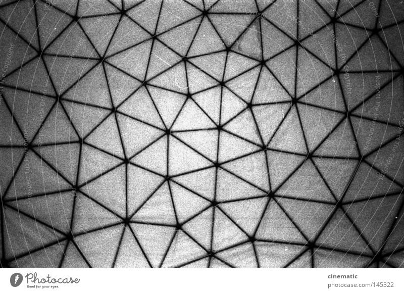 The network Ceiling Domed roof Ball Grunewald USA Radar station Sphere Sky Noise Moody Testing & Control Roof Black & white photo Derelict Net devil's mountain