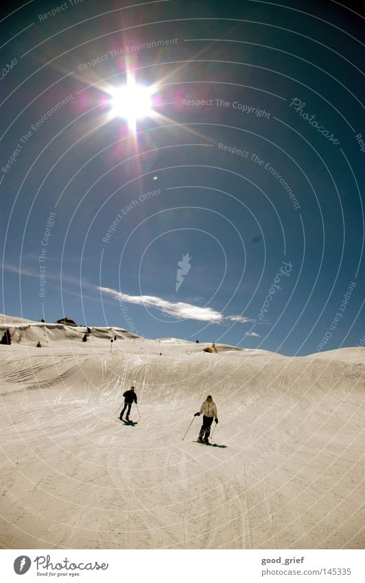 Sky Old Blue Sun Clouds Winter Mountain Snow Gray Italy Retro Beautiful weather Alps Skiing France Downward