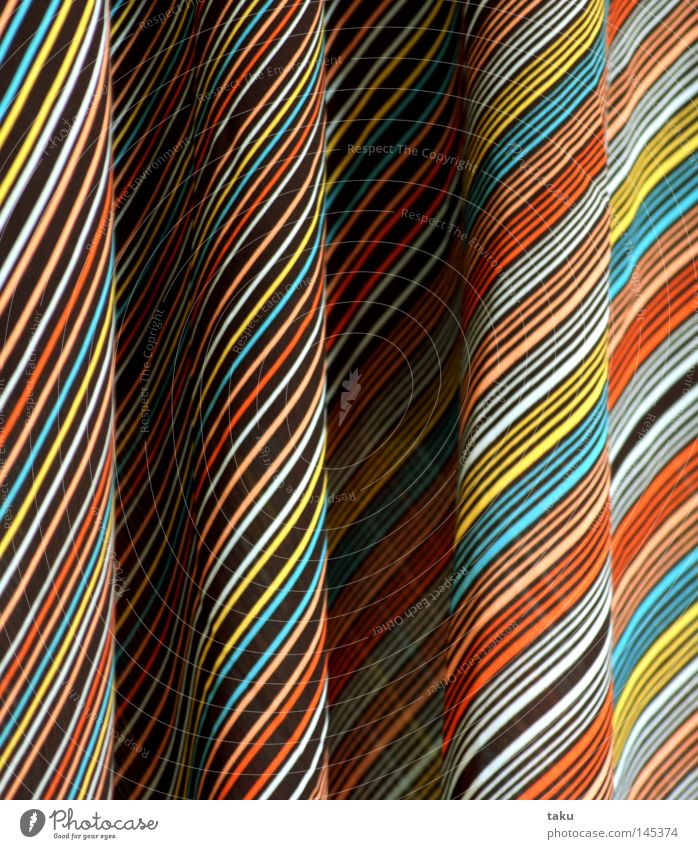 Blue Yellow Brown Orange Clothing Dress Stripe Wrinkles Hang Striped Section of image Loop Border Hanger