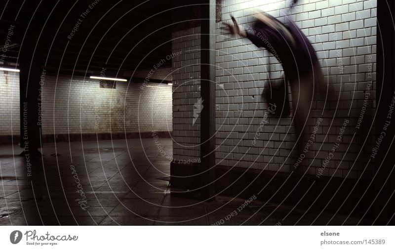 Human being Man Fear Tunnel Ghosts & Spectres  Panic Scare Underpass
