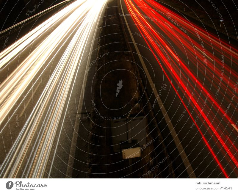 White Red Lighting Transport Highway