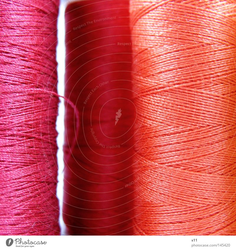 Red Orange Pink Clothing Thin Long String Fine Buttons Sewing thread Needle Stitching Coil Cotton Whorl