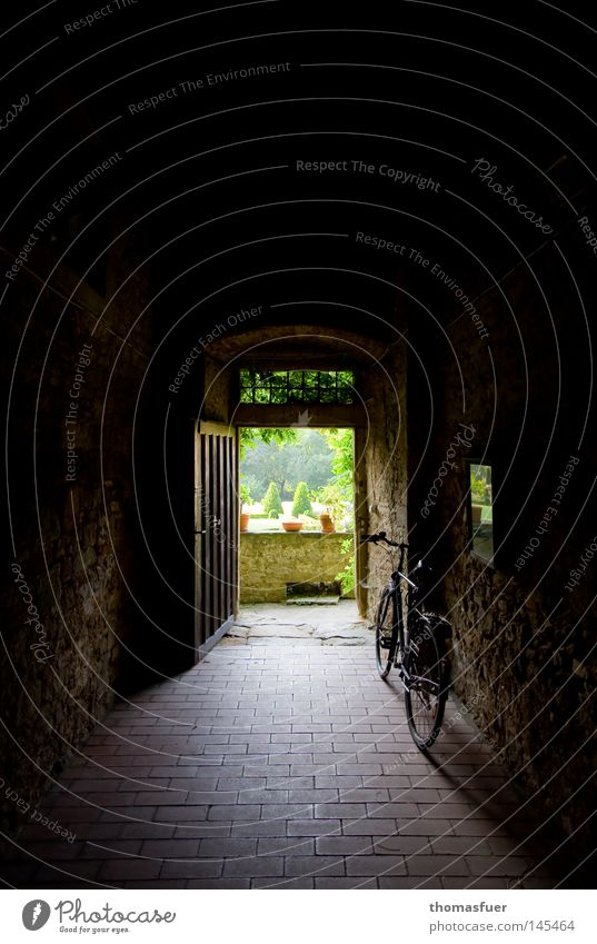 Old Garden Sadness Wall (barrier) Bicycle Fear Door Perspective Hope Grief Vantage point Castle Gate Tunnel Distress Panic
