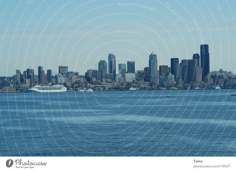 Water High-rise Horizon Americas Skyline North America Seattle