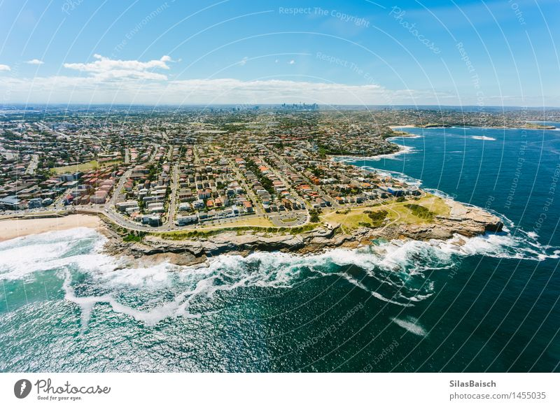 Sydney Coast Vacation & Travel Beautiful Summer Ocean Landscape House (Residential Structure) Far-off places Beach Life Coast Lifestyle Freedom Swimming & Bathing Tourism Power Waves