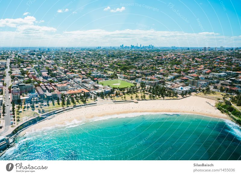 Beautiful Coogee Beach in Sydney Vacation & Travel Summer Sun Ocean Landscape Joy Coast Lifestyle Freedom Swimming & Bathing Tourism Elegant Waves Success