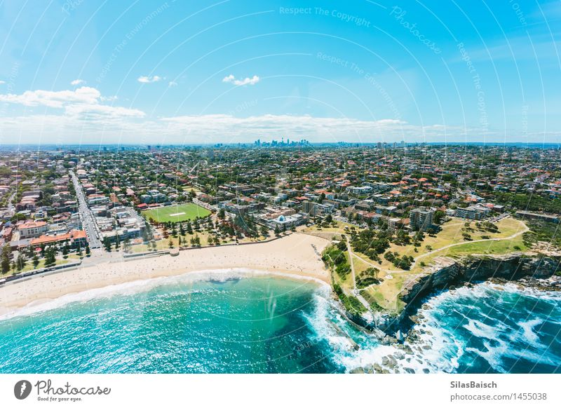 Beautiful Coogee Beach in Sydney II Vacation & Travel Summer Sun Ocean Relaxation Far-off places Beach Life Coast Family & Relations Lifestyle Freedom Swimming & Bathing Dream Contentment Tourism