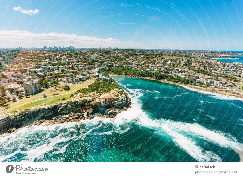 Sydney Coast and Skyline Nature Vacation & Travel Summer Sun Ocean Relaxation Far-off places Beach Life Lifestyle Freedom Tourism Waves Island Trip