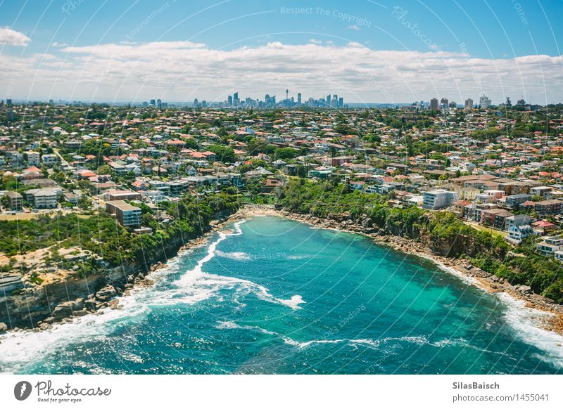 Sydney Coast and Skyline Lifestyle Vacation & Travel Tourism Trip Freedom Sightseeing City trip Summer Summer vacation Sun Beach Ocean Waves Environment Nature