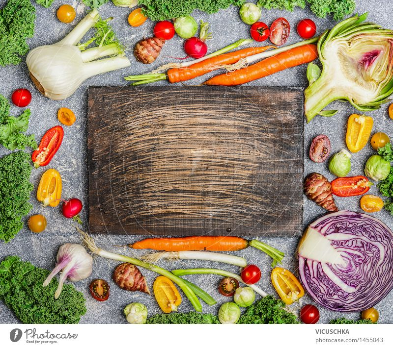 Healthy nutrition with colourful vegetables Food Vegetable Nutrition Organic produce Vegetarian diet Diet Style Design Healthy Eating Life Vegetable dish