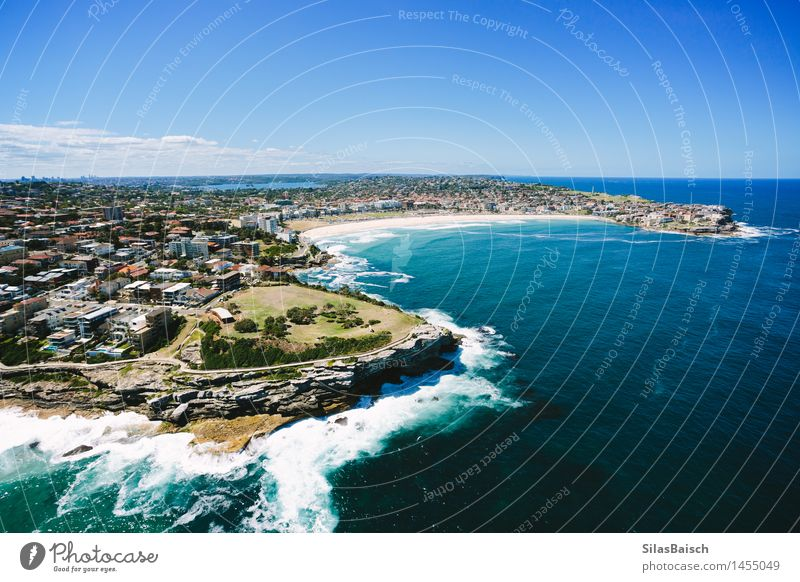 Bondi Beach I Vacation & Travel Summer Sun Ocean Relaxation Far-off places Beach Coast Lifestyle Freedom Swimming & Bathing Contentment Tourism Elegant Waves Happiness