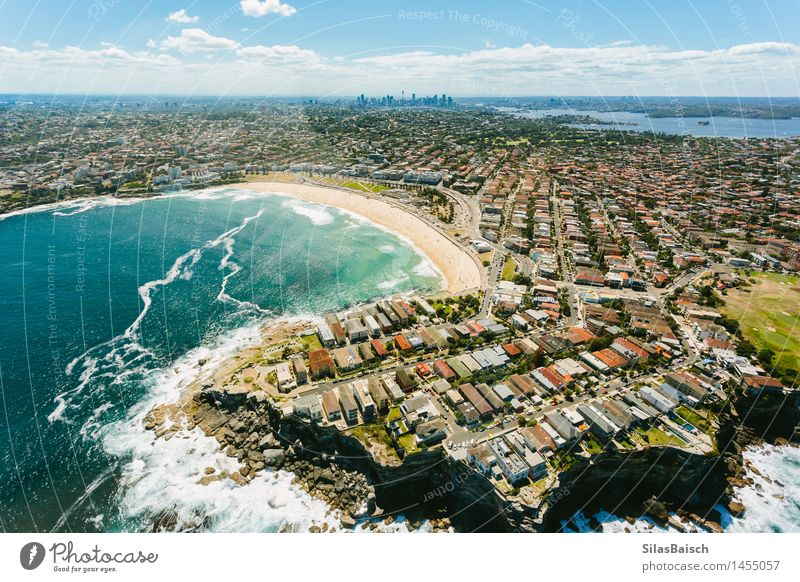 Bondi Beach III Nature Vacation & Travel Summer Sun Ocean Relaxation Joy Life Coast Happy Lifestyle Swimming & Bathing Tourism Waves Island