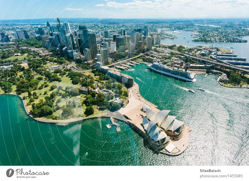 Sydney Opera House and Skyline Vacation & Travel City Ocean Joy Far-off places Architecture Building Lifestyle Freedom Tourism High-rise Trip Bridge Adventure