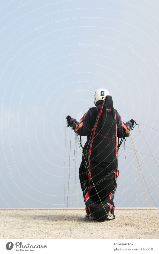 Sports Jump Mountain Fog Beginning Crazy Paragliding Extreme sports Hang gliding