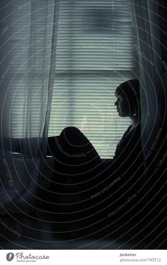 Woman Dark Window Legs Bright Science & Research Curtain Venetian blinds