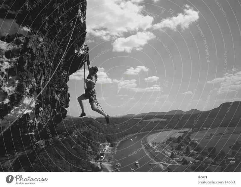 cliffhanger Free-climbing Elbsandstein region Extreme sports Climbing Rock