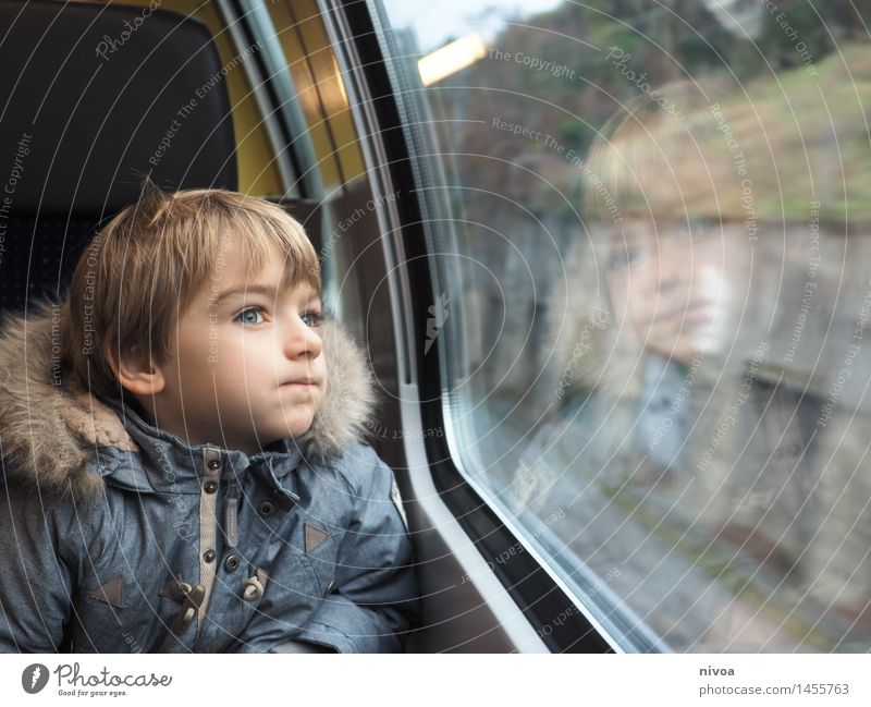 Human being Child Landscape Winter Wall (building) Meadow Boy (child) Healthy Wall (barrier) Head Masculine Dream Tourism Free Glass Blonde