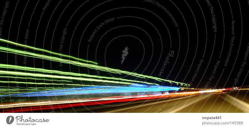 Line Stripe Highway Tunnel Curve Floodlight Motorsports Tunnel vision
