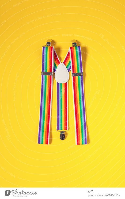 suspenders Joy Carnival Fashion Clothing Accessory Suspenders Esthetic Happiness Uniqueness Funny Multicoloured Yellow Anticipation Colour