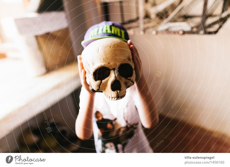My little spectre of horror Vacation & Travel Adventure Masculine Child Boy (child) Infancy Life Head 1 Human being 3 - 8 years Exhibition Discover Looking