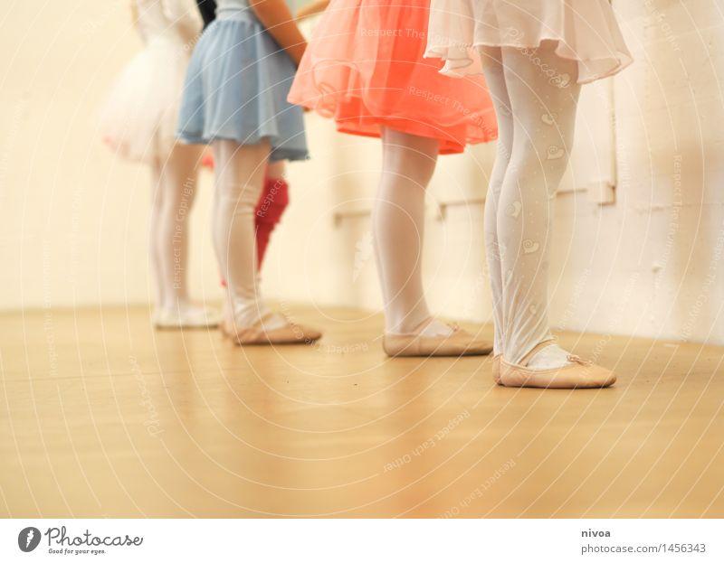 Human being Child Beautiful Joy Girl Feminine Wood Legs Art Contentment Power Infancy Stand Esthetic Dance Creativity