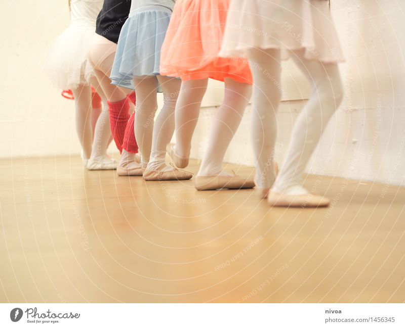 Human being Child Girl Movement Feminine Legs Art Together Music Infancy Stand Esthetic Dance Study Joie de vivre (Vitality) Dance event