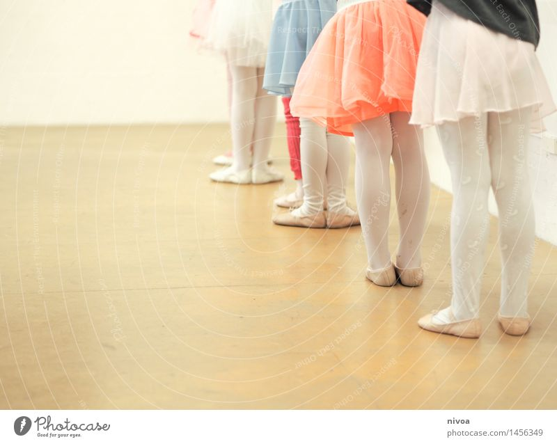 hosiery Feminine Child Girl Legs 6 Human being Group of children 3 - 8 years Infancy Art Stage Dance Dance event Dancer Ballet Skirt Tights Movement