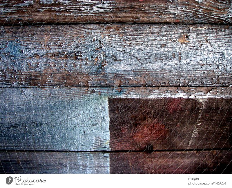 Old Blue Red Colour Wall (building) Dye Door Empty Transience Derelict Decline Wooden board Gap Wood grain Across Weathered