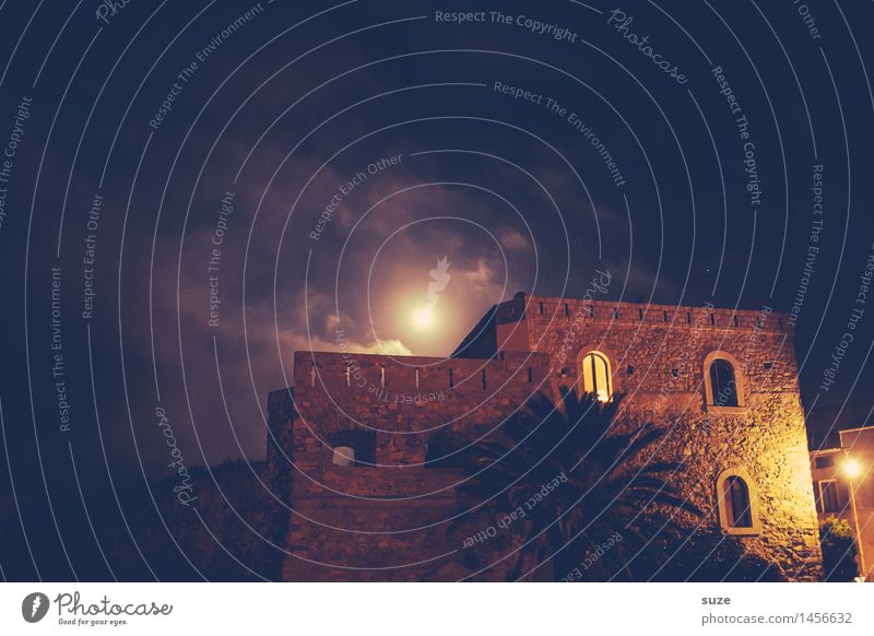 1001 nights Vacation & Travel Summer Summer vacation House (Residential Structure) Night life Culture Moon Town Building Architecture Facade Window Old