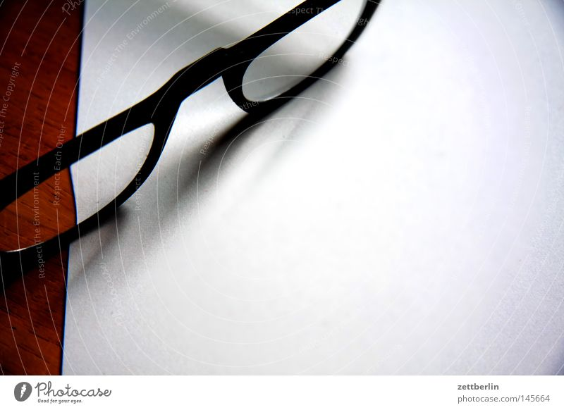 glasses Eyeglasses Reading glasses Optician Optical instruments Optics Breakage Light Lens Glass Focal point Shadow Paper Empty White Things Media Concentrate