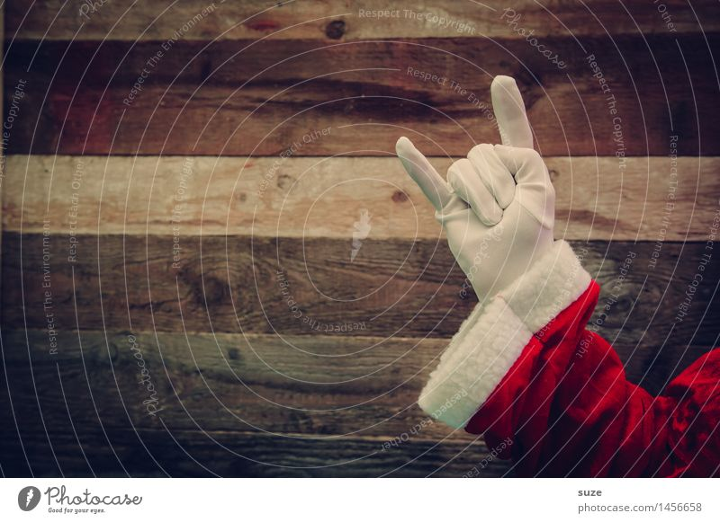 Trash! 2015 - The old man wants to know Style Design Joy Feasts & Celebrations Christmas & Advent Masculine Arm Hand Clothing Workwear Gloves Wood Sign