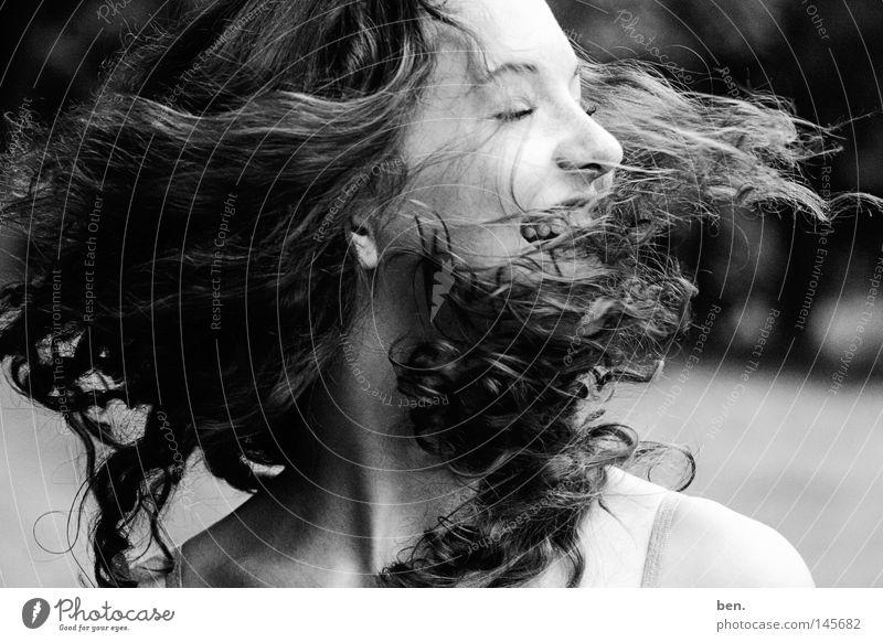 Joy Movement Head Hair and hairstyles Head Air Wind Gale Rotation Swirl Hurricane