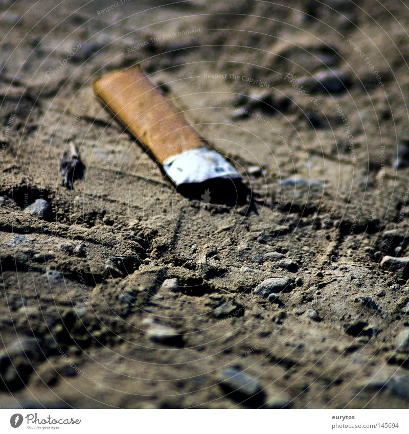 White Black Stone Dirty Dangerous Railroad Floor covering Search Smoking To enjoy Smoke Intoxicant Cigarette Boredom Odor Completed