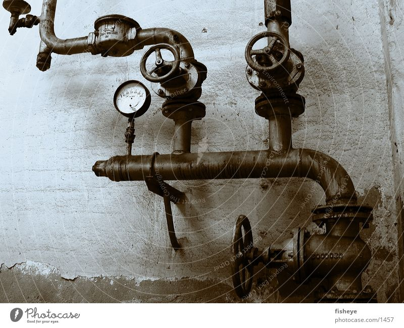 Industry Pipe Rust Installations Valve Duplex