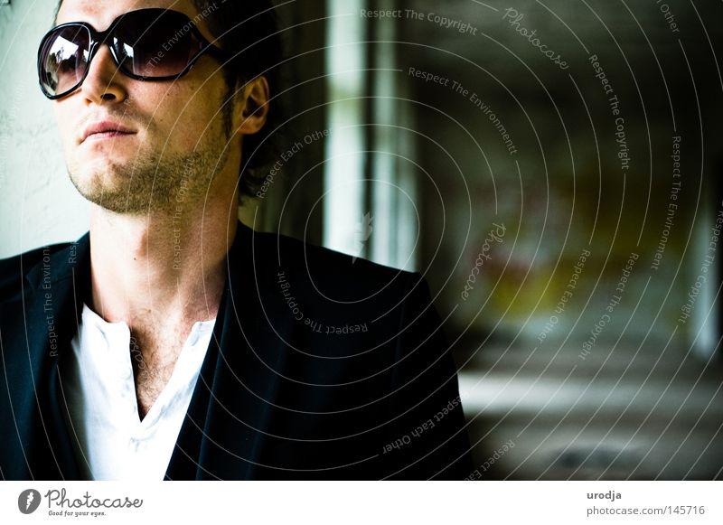 *** Man Colour Dye Fashion Portrait photograph Eyeglasses