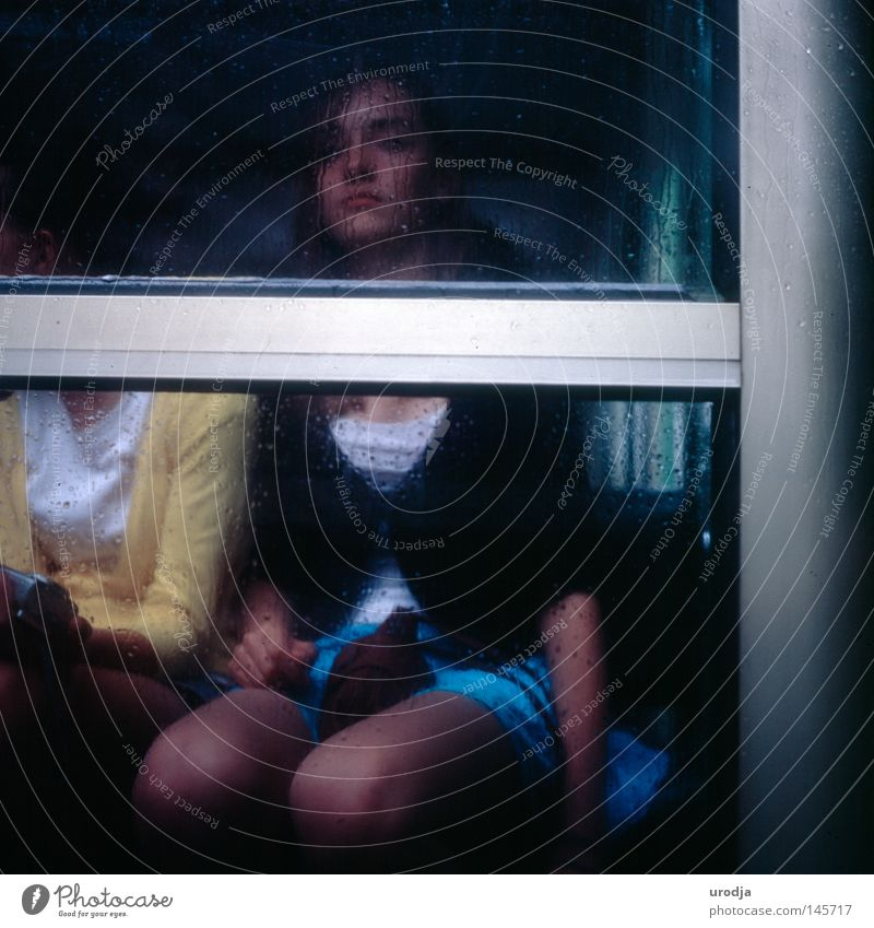 SHE Film Slide Portrait photograph Paris Youth (Young adults) Grief Distress 6x6 yashicamat Fashion