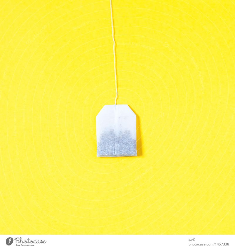 tea bag Diet Fasting Beverage Hot drink Tea Healthy Eating Teabag Esthetic Simple Fresh Bright Yellow White Minimalistic Colour photo Interior shot Studio shot